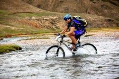 Mountain bike adventure competition Royalty Free Stock Photos