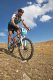 Mountain bike adventure competition Royalty Free Stock Photography