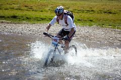 Mountain bike adventure competition Stock Photography