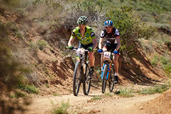 Mountain bike adventure competition Stock Photos