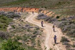 Free Mountain Bike Andventure Competition Stock Image - 54075241