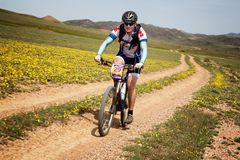 Mountain bike andventure competition Stock Images