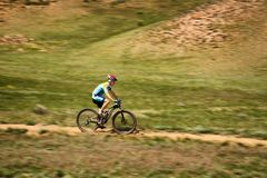 Mountain bike andventure competition Royalty Free Stock Photos