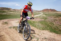 Mountain bike andventure competition Royalty Free Stock Image