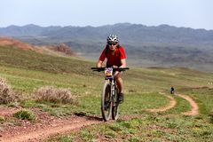 Mountain bike andventure competition Royalty Free Stock Photography