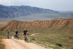 Mountain bike andventure competition Stock Photos