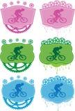 Mountain bike badges. Stock Photo