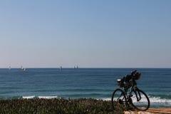 Mountain bike on the beach Stock Photo