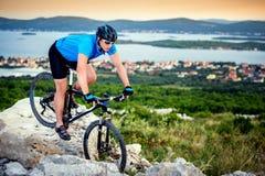 Mountain bike. R riding on Croatia Royalty Free Stock Images
