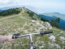 Mountain bike. Mountain biking in the mountains Royalty Free Stock Image