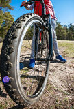 Mountain Bike and blue sky background Royalty Free Stock Photos