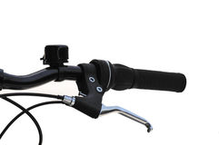 Mountain bike brake lever with bell stock photos