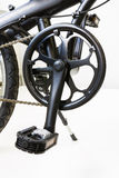 Mountain bike chain set and pedal Royalty Free Stock Images
