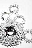 Mountain bike chain wheel set Stock Photos