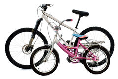 Mountain bike and child bike Royalty Free Stock Photo