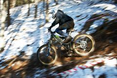 Mountain bike competition Royalty Free Stock Photo