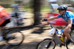 Mountain bike competition Royalty Free Stock Images
