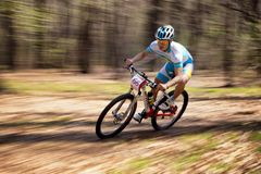 Mountain bike competition Stock Images