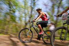 Mountain bike competition Royalty Free Stock Photography