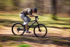 Mountain bike competition Stock Photo