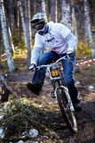 Mountain bike competitions at Halloween Stock Image