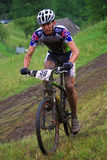 Mountain bike competitor Stock Photo