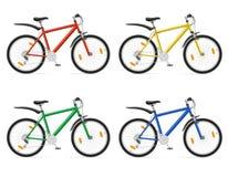 Mountain bike con l'illustrazione mobile di vettore dell'ingranaggio Fotografia Stock