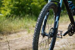 Mountain bike on a country road. Stock Photo