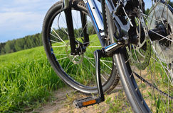 Mountain bike in countryside Royalty Free Stock Image