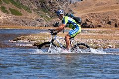 Mountain bike cross-country marathon Stock Photo