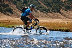Mountain bike cross-country marathon Royalty Free Stock Image