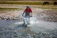 Mountain bike cross-country marathon Stock Images