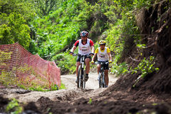 Mountain bike cross-country race Stock Image