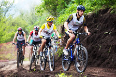 Mountain bike cross-country race Royalty Free Stock Photography