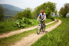 Mountain bike cross-country race Stock Photo
