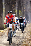 Mountain bike cross-country relay race Stock Photo