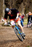 Mountain bike cross-country relay race Royalty Free Stock Image