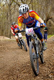 Mountain bike cross-country relay race Royalty Free Stock Photos