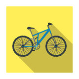 Mountain bike. Cycling downhill from the mountains.Different Bicycle single icon in flat style vector symbol stock Stock Photos