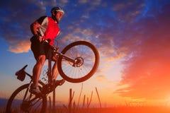 Mountain Bike cyclist riding outdoor Royalty Free Stock Photo