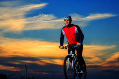 Mountain Bike cyclist riding outdoor Royalty Free Stock Photography