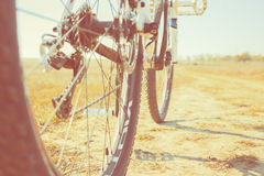 Mountain bike on the dirt road Royalty Free Stock Images