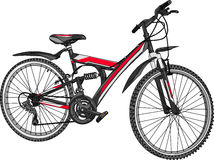 Mountain bike do vetor Foto de Stock