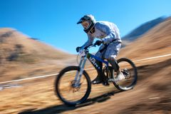 Mountain bike downhill Royalty Free Stock Image