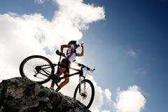 Mountain bike drink Royalty Free Stock Image