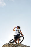 Mountain bike drink Royalty Free Stock Photography
