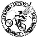 Mountain bike emblem. Stock Photos
