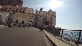 Mountain bike excursion to cetara stock video