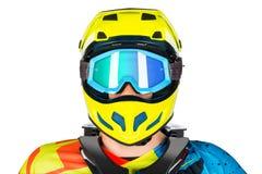 Mountain bike freeride downhill rider portrait Royalty Free Stock Image