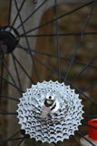 Mountain bike gears Royalty Free Stock Photos